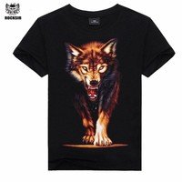 Rocksir Style T Shirt Hot Selling 2017 New arrive 3d Printed T Shirt Men M-XXXL100% Cotton Casual Brand T-Shirt  Free Shipping