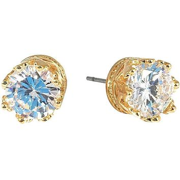 Cubic Zirconia Earrings Round Stud