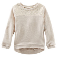 Eyelet Inset French Terry Pullover