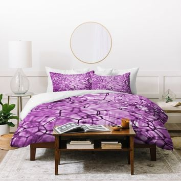 Lisa Argyropoulos Connections In Purple Duvet Cover