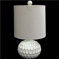 Whitewashed Lamp with Canvas Shade | Shop Hobby Lobby