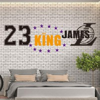 The King of Lakers LeBron James Vinyl Wall Sticker For room Decoration Decal Basketball Stickers Los Angeles mural wall-sticker