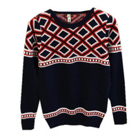 New Fashion Knitted Top Round Neck Vintage Knitwear Personality Pullover Sweater Size S/M/L = 1945786244
