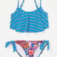 Girls 7-14 Running Wild Tankini Set