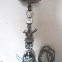 "Free shipping 1pcs (50cm)20"" 1 Hose Hookah Shisha Complete Set -  Diamond Flower Art Water Pipe 4colors HXZ1088"