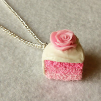 pink ombre cake necklace