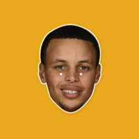 Happy Stephen Curry Mask - Perfect for Halloween, Costume Party Mask, Masquerades, Parties, Festivals, Concerts - Jumbo Size Waterproof Laminated Mask