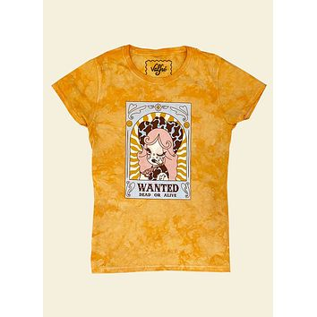 Wanted Dead Or Alive Tie Dye Tee