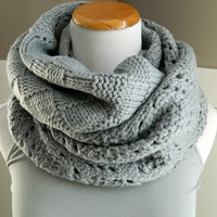 Block Pattern Knitted Scarf