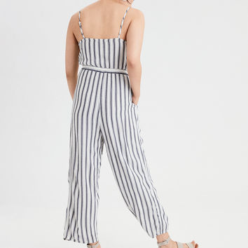 AE Strappy Belted Jumpsuit, Navy