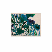 """Ebi Emporium """"Petal For Your Thoughts Teal"""" Turquoise Green KESS Naturals Canvas (Frame not Included)"""