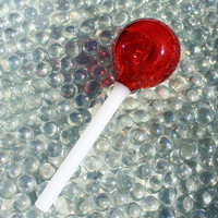 Lollipop glass pipe American made by Smashleigh