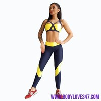 Women Tracksuit Yoga Set Sleeveless Bra+legging