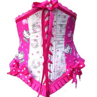 Pink Hello Kitty Waist cincher corset