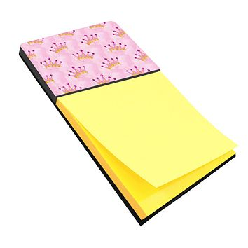 Watercolor Princess Crown on Pink Sticky Note Holder BB7546SN