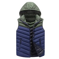 Mens Casual Sleeveless Hooded Vests