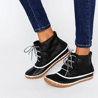 Sorel Out N About Leather Lace Up Ankle Boots at asos.com