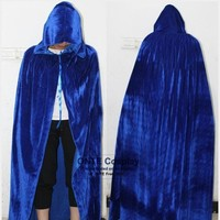 5 Color Witch Long Cloaks Medieval Witchcraft Larp Capes Halloween Witch Women Men Cosplay Costumes Velvet Hoody Vampire Robes