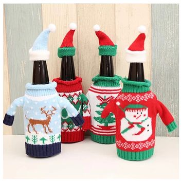 Crazy Cute Holiday Wine/Bottle Covers