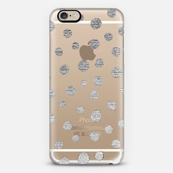 SILVER DOTS - CRYSTAL CLEAR PHONE CASE iPhone 6 case by Nika Martinez | Casetify