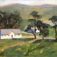 PIERCE POINT RANCH - 12 x 24 - Point Reyes Seashore - Plein Air - Painting - Original Oil - Landscape - Home Decor - California - Coastal