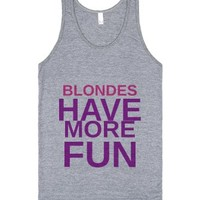 Blondes Have More Fun - Tank Pink & Purple-Athletic Grey Tank