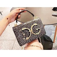 D&G Casual Shoulder Bag Fashion Retro Pattern Shopping Bag