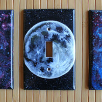 Handmade Full Moon Light Switch Cover