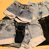 simple HIGH WASTED SHORTS any size hipster tumblr perfect for fall with tights