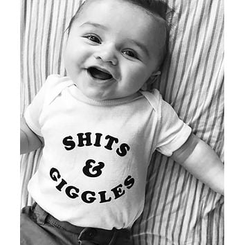 'SHITS & GIGGLES' Onesuit