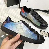 GUCCI New Fashion More Letter Print Women Men High Quality Colorful Chameleon Shoes
