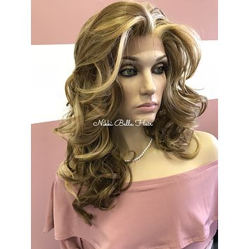 Blond balayage lace front wig | Cathy