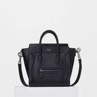 Nano Luggage Handbag in Drummed Calfskin