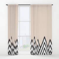 Just Peachy Window Curtains by Urban Exclaim Co.