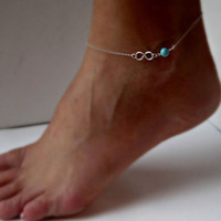 1PC New Girls Ladies Sexy Foot Jewelry Chain Bead Infinity Anklet Ankle Bracelet Gift = 1651172996