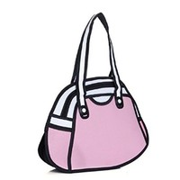 jeansian 3D Jump Style 2D Drawing From Cartoon Paper Comic Hand Bag WBH020
