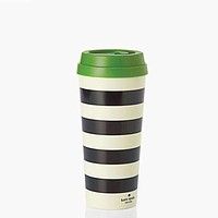 Thermal Mug in Black Stripe by Kate Spade New York