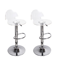 Gothenburg Acrylic Bar Stools Transparent (Set of two)