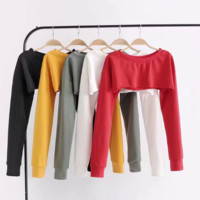 super crop top sweat shirt tg