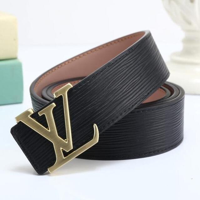 Image of LV Louis Vuitton Fashion Smooth Buckle Belt Leather Belt