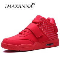 IMAXAANNA Men Basketball Shoes Air HighTop Cushion Sneakers Outdoor Sport Basket Femme Athletic Trainers Walking Red
