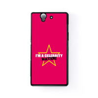 Celebrity Hater Black Hard Plastic Case for Sony Xperia Z by Chargrilled