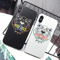 Kenzo Fashion New Letter Tiger Women Men Protective Cover Phone Case