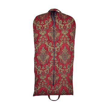 Modern Garment Bag - Red & Gold