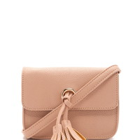 Tassel Faux Leather Crossbody