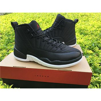 "Air Jordan 12 ""Black Nylon"" Basketball Shoes 36-47"