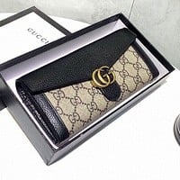 GUCCI High Quality Fashin Men Women Leather Wallet Purse