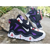 2019 Air Barrage Mid QS Black/White/Purple