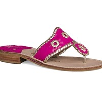 Jack Roger's Palm Beach Sandal - Bright Pink and Platinum