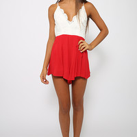 Super Love Playsuit - Red